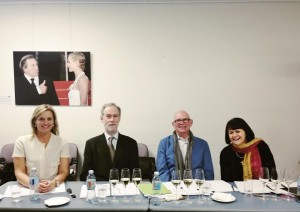 The judges lt to rt)  ELisabeth Drysdale, Huon Hooke, Peter Bourne, Bernadette OShea