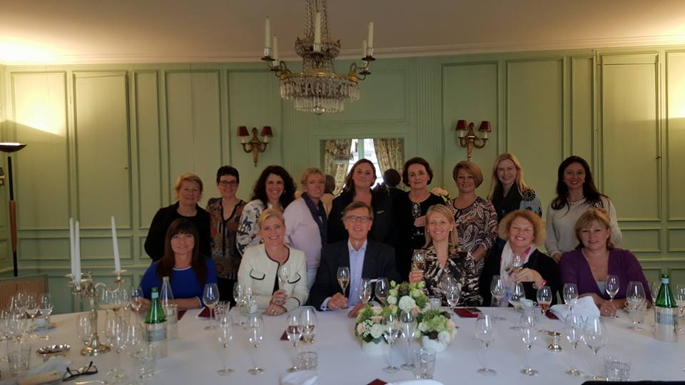 Our Fabulous Ladies around Mme Bollinger's dining table